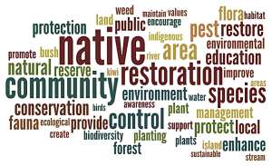 Community group restoration objectives