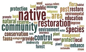 Community group restoration objectives