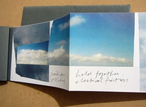 On the formation of clouds. 2002. Artist's Book with poem 13.5cm x 207cm