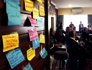 Community environmental group workshop, Raglan, May 2014