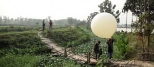 Balloon mapping, Kolkata Wetlands, imge courtesy of http://kolkatawetlands.org/