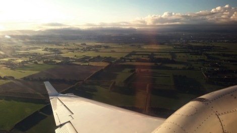 Early morning arrival in Palmerston North