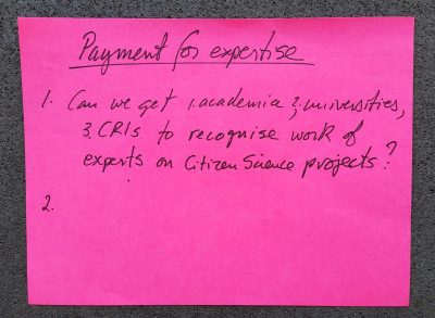 Payment for expertise