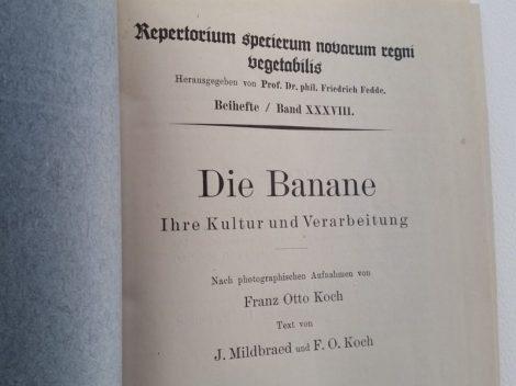 Die Banane. F.O.Koch. 1926